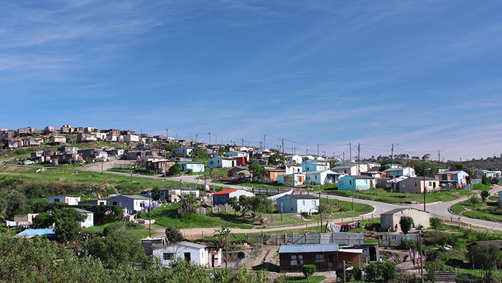 Set of houses on a hill