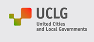 United Cities and Local Governments (UCLG) logo. Link to website: https://www.uclg.org/en