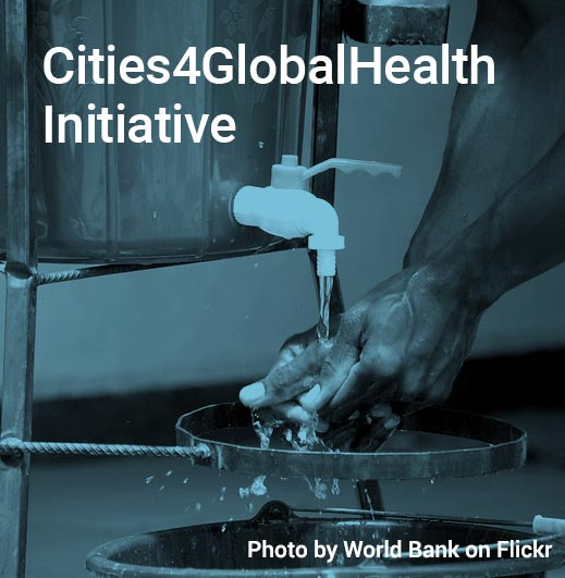 Woman washing her hands. Link to Cities4GlobalHealth Initiative: https://www.citiesforglobalhealth.org/
